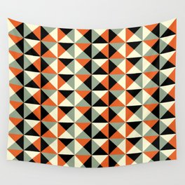 Mid-century pattern 138 (orange triangles) Wall Tapestry