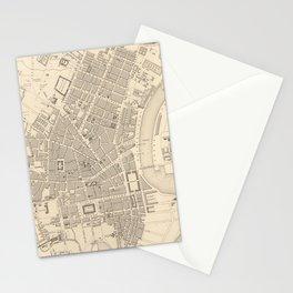 Vintage Map of Belfast Ireland (1851) Stationery Cards