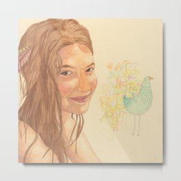 The bird girl Metal Print