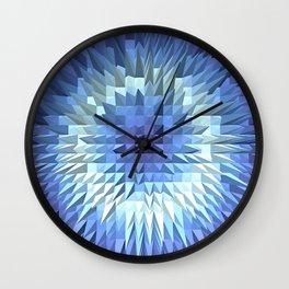 Abstract geometric 3D poligonal texture. Wall Clock