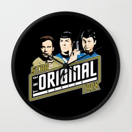Star Trek TOS Trio Wall Clock