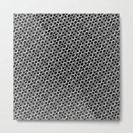 Rounded Holes Metallic Pattern Metal Print