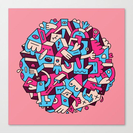 Dumbbell Fiasco Canvas Print