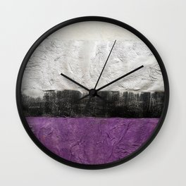Purple Silver Wall Clock