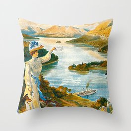 Furness Railway and Lady of the Lake Throw Pillow