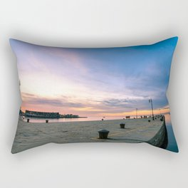 Colorful sunset in front of the city of Trieste Rectangular Pillow