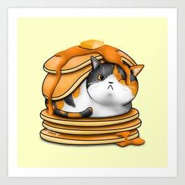 Kitty Pancakes Art Print