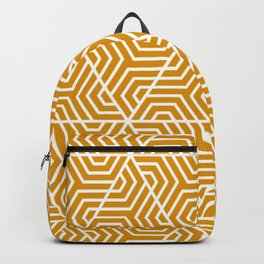 Harvest gold - orange - Geometric Seamless Triangles Pattern Backpack