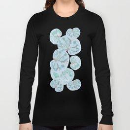 Sea Grape Tropical Leaves Long Sleeve T-shirt
