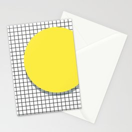 Memphis Yellow Stationery Cards