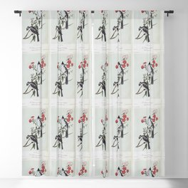 1862 The Black Crested Chickadee Blackout Curtain