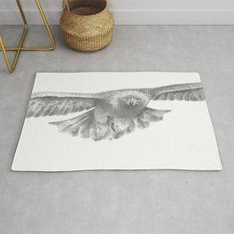 Golden eagle in flight, Aquila Chrysaetos Rug