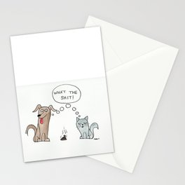 What the Shit Watercolor Stationery Cards