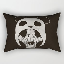Panda Skull Rectangular Pillow