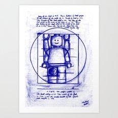 LEGO Vitruvian (Mini)-Figure  Art Print