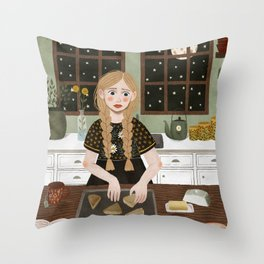 baking scones Throw Pillow