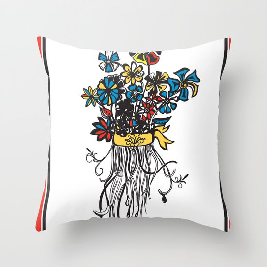 Bouquet - Skal Throw Pillow