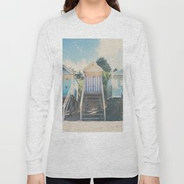 beach huts photograph Long Sleeve T-shirt