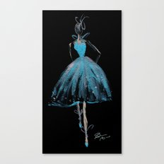 Blue and Light Haute Couture Fashion Illustration Canvas Print