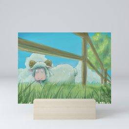 Sheepishly Mini Art Print