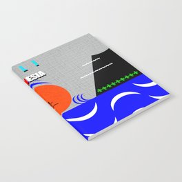 Bali Indonesia surfing design A Notebook