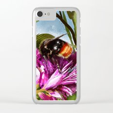 Bee on flower 9 Clear iPhone Case