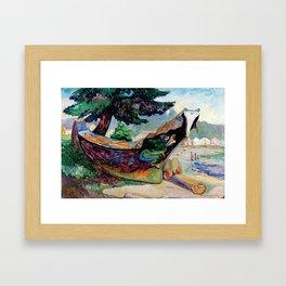 War Canoe (Alert Bay) by Emily Carr Framed Art Print