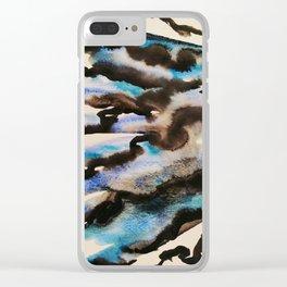 Et par-delà, les nuages Clear iPhone Case