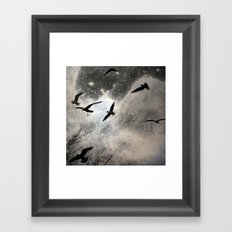 Celestial Seagulls Framed Art Print