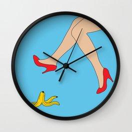 Nana's Heels Wall Clock