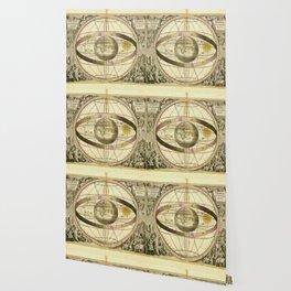 Antique Geometric Univers Zodiac Sign Wallpaper
