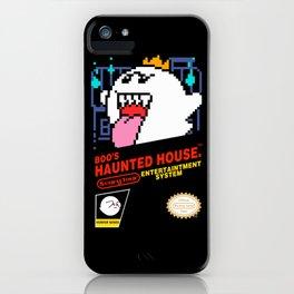 Super Mario Boo NES box art iPhone Case