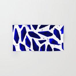 Cobalt Blue Ink Blots Hand & Bath Towel
