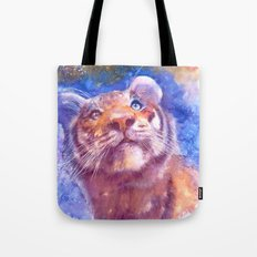 Waiting for the stars (tiger, big cat, cat, kitty, kitten, gato, chat) Tote Bag