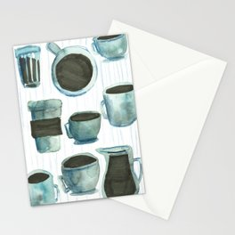 coffees watercolor Stationery Cards