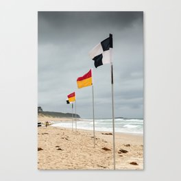 'Between the Flags' Cave's Beach, Newcastle Canvas Print