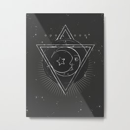 Mysterious moon Metal Print