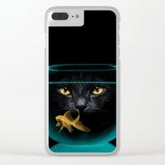 Black Cat Goldfish II Clear iPhone Case
