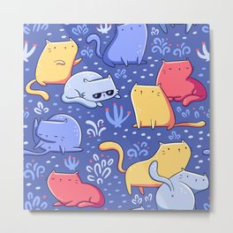 A Lot of Cats / Out at night Metal Print