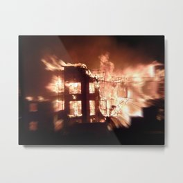 Gilbert,  Arizona Aparment Fire Metal Print