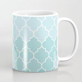 Ombre Moroccan Trellis, Latticework - Blue White Coffee Mug
