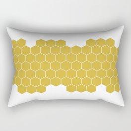 Honeycomb White Rectangular Pillow
