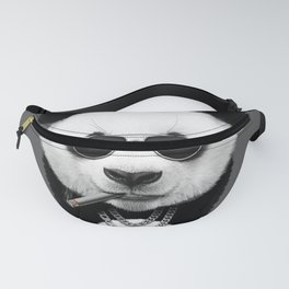 Panda in Black Fanny Pack