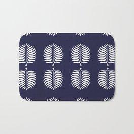 TROPICAL PALMS . BLUE Bath Mat