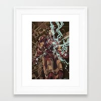 ironman Framed Art Prints featuring Ironman by Beth Sparks