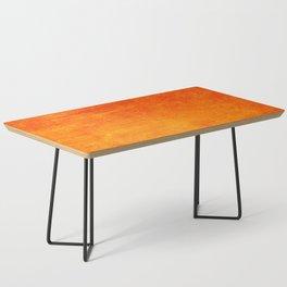 Orange Sunset Textured Acrylic Painting Coffee Table