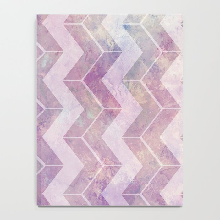 Watercolor pink pattern chevron Notebook