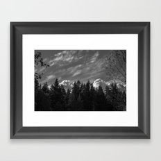 Looming Shadow Framed Art Print