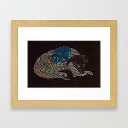 Dog and Cat Framed Art Print