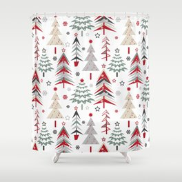 Fairy Christmas forest. Shower Curtain